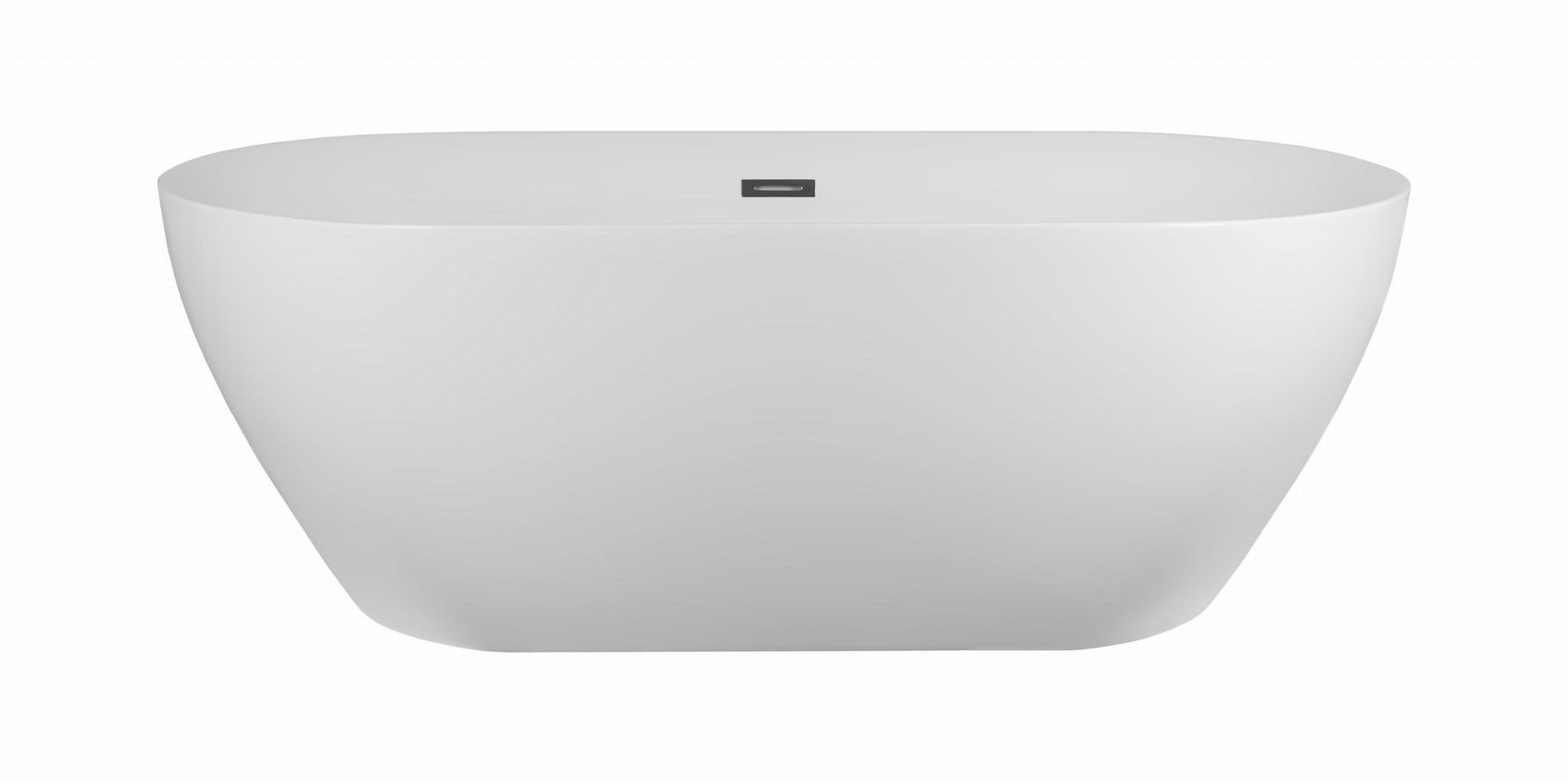 Corsan wanna wolnostojąca akrylowa OLVENA 170x80x60 cm E-041 + syfon klik-klak/ biała - wysyłka 24 h