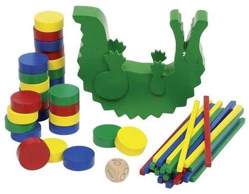 Zręcznościowa gra drewniana krokodyl, goki