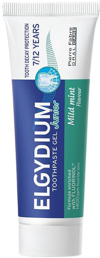 ELGYDIUM Junior 7-12 50ml - pasta do zębów w formie żelu o smaku łagodnej mięty