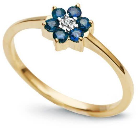 Złoty pierścionek PZD0523 - Diament