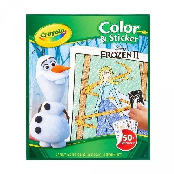 Kolorowanka i wyklejanka kraina lodu 2 disney frozen