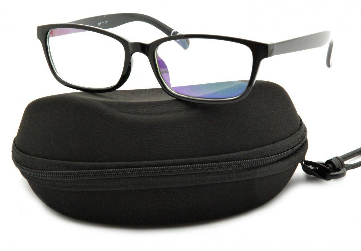 Okulary z filtrem Antyrefleksyjne zerówki Nerdy prostokątne DR-117-C1