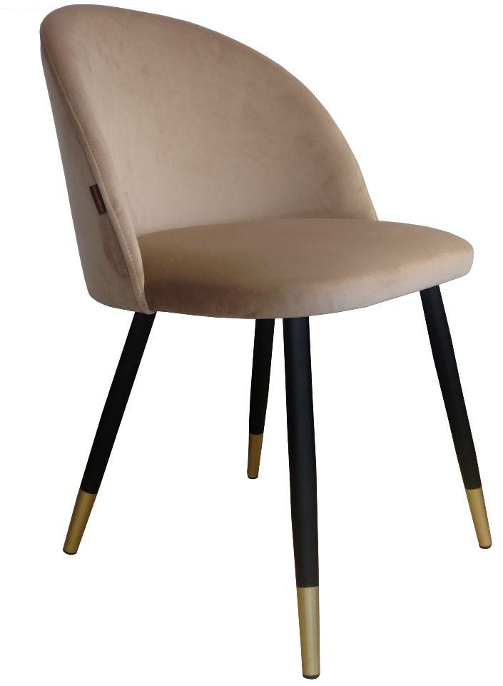 Krzesło CLAUDINE 1 VELVET GOLD beżowe  Kupuj w Sprawdzonych sklepach