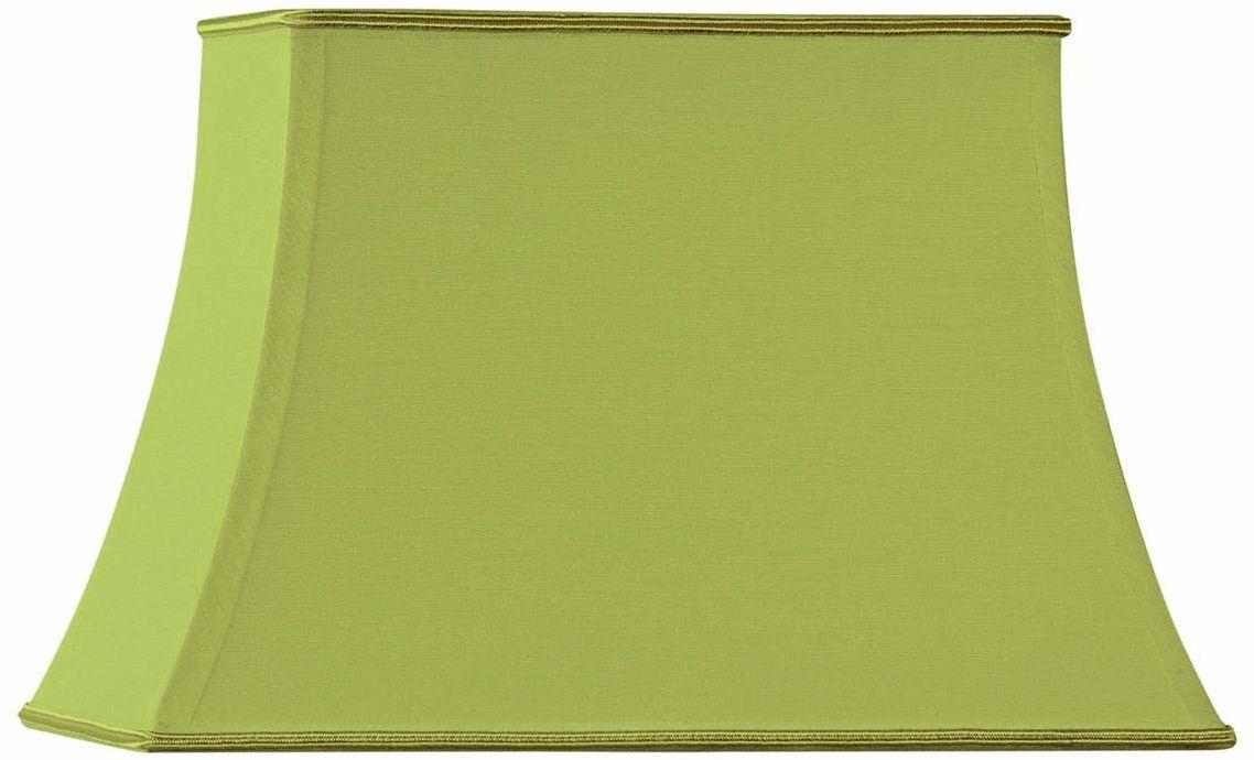 Klosz lampy w kształcie pagody, prostokątny, 45 x 32/29 x 21/32 cm, jasnozielony