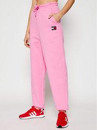 Tommy Jeans Spodnie dresowe Tjw Hrs Badge DW0DW09740 Różowy Relaxed Fit