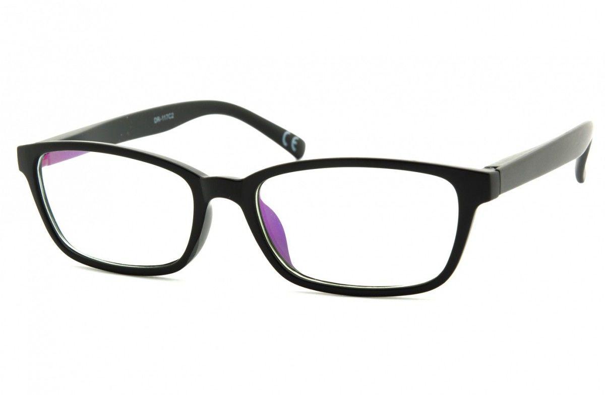 Okulary z filtrem Antyrefleksyjne zerówki Nerdy prostokątne DR-117-C2