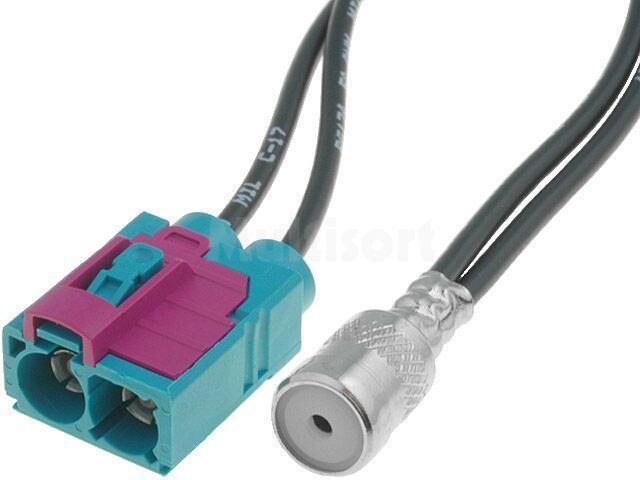 Adapter antenowy ISO gniazdo - Fakra gniazdo x2