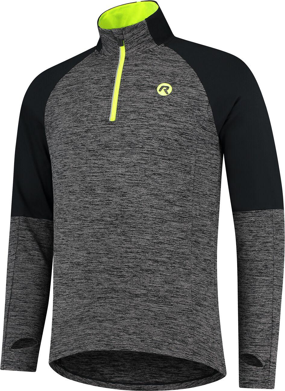 ROGELLI męska bluza do biegania ENJOY black/grey ROG351102 Rozmiar: S,ROG351102.S