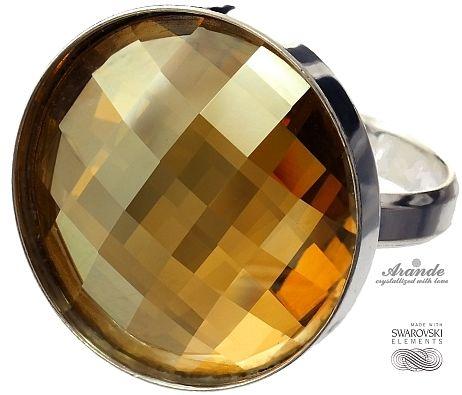 SWAROVSKI piękny pierścionek GOLDEN SREBRO