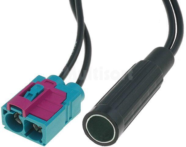 Adapter antenowy DIN gniazdo - Fakra gniazdo x2