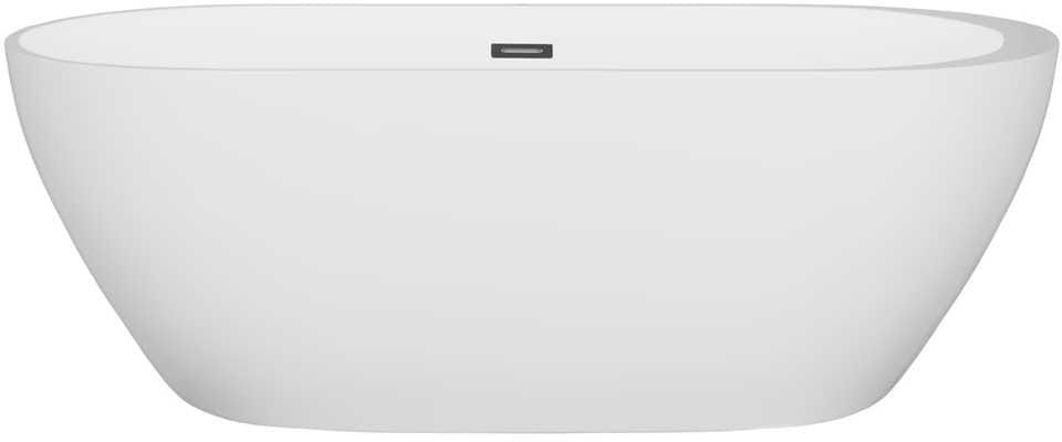 Corsan wanna wolnostojąca akrylowa RENO 170x79x58 cm E-042 + syfon klik-klak/ biała