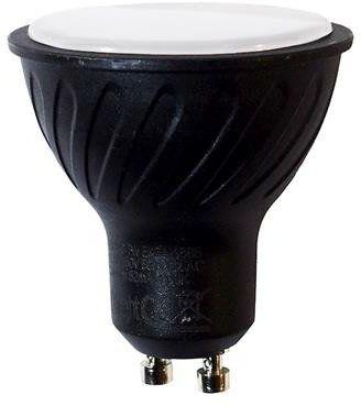 Czarna żarówka LED 7W GU10 barwa neutralna 4000K EKZA667 czarna