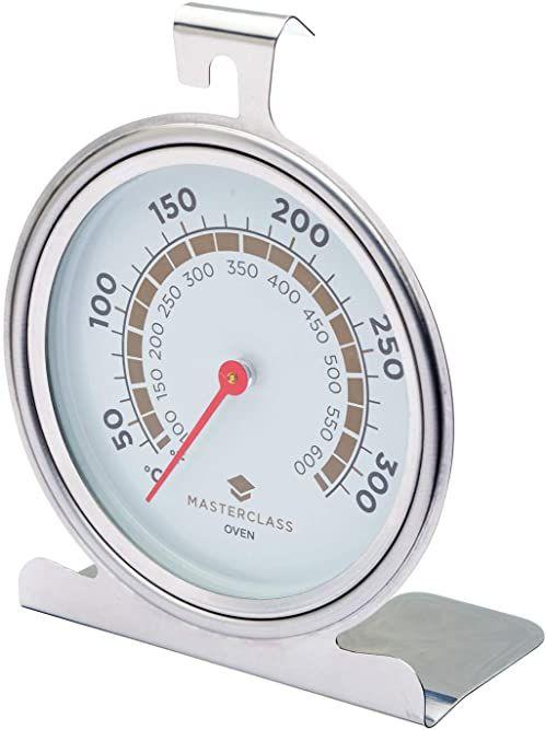KitchenCraft MasterClass, termometr do piekarnika, 50  300 stopni Celsjusza, stal nierdzewna, srebrny