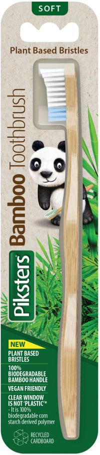 PIKSTERS Bamboo SOFT - ekologiczna szczoteczka do zębów z bambusa