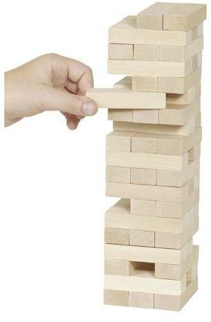 Niestabilna wieża, gra zręcznościowa dla całej rodziny, goki