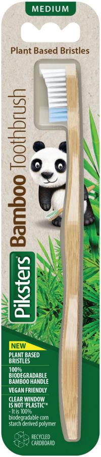 PIKSTERS Bamboo MEDIUM - biodegradowalna szczoteczka do zębów z bambusa