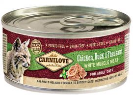 Brit Carnilove Chicken Duck & Pheasant Kurczak Kaczka Bażant Adult Cats 100 g