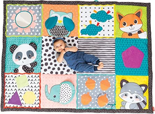 Infantino 313000 duża zabawka dla niemowląt składana i idź wielka mata do odkrywania