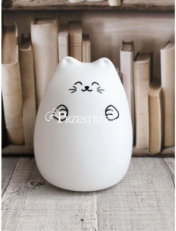 SILIKONOWA LAMPKA DZIECIĘCA - RABBIT & FRIENDS - Szczęśliwy Kotek