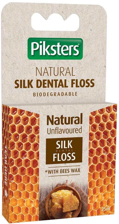 PIKSTERS Bamboo Silk Floss 25m - jedwabna nitka do zębów z woskiem pszczelim