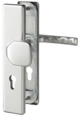 Klamka drzwiowa London z gałką 61G na szyldzie PZ72mm F1/srebro