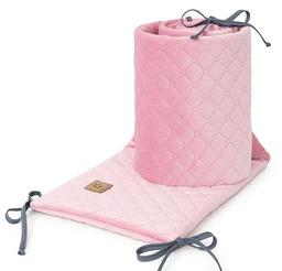 MAMO-TATO Ochraniacz do łóżeczka 60x120 oraz 70x140 Velvet PIK - Różany