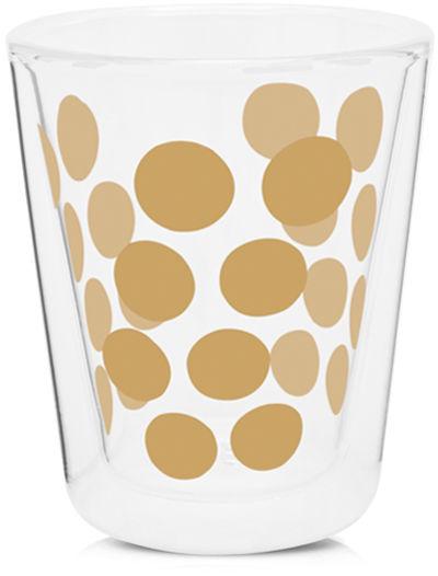 Zestaw 2 szklanek 200 ml z łyżeczkami (złoty) Dot Dot Zak! Designs