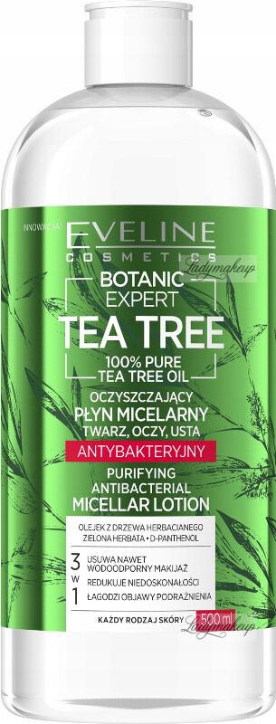 Eveline Cosmetics - BOTANIC EXPERT - Tea Tree Micellar Lotion - Antybakteryjny płyn micelarny - 500 ml