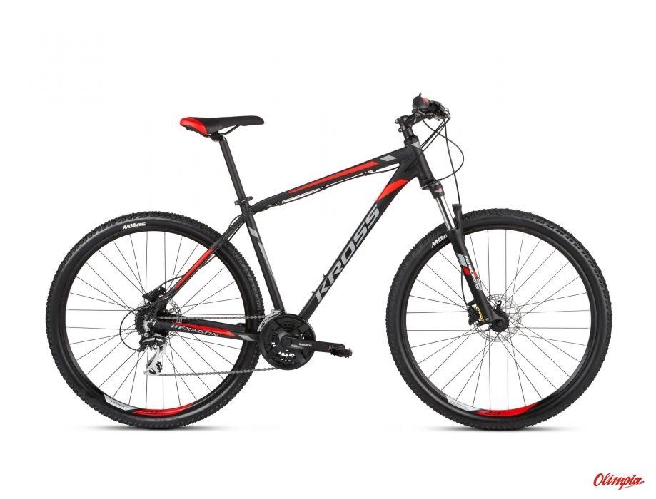 Rower Kross Hexagon 6.0 29 czarny/grafitowy/czerwony mat 2021
