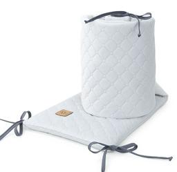 MAMO-TATO Ochraniacz do łóżeczka 60x120 oraz 70x140 Velvet PIK - Jasny szary