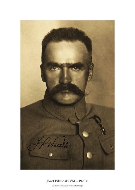 Plakat A3 - Józef Piłsudski  VM  1920 r. GPlakJP04