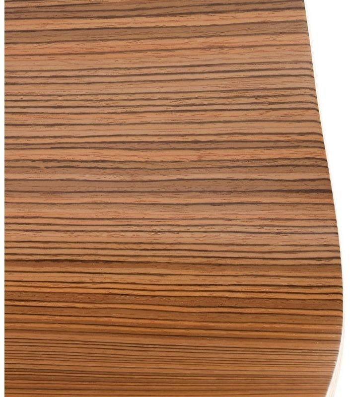 Kokoon design - stołek wysoki drewniany cobe - zebrano