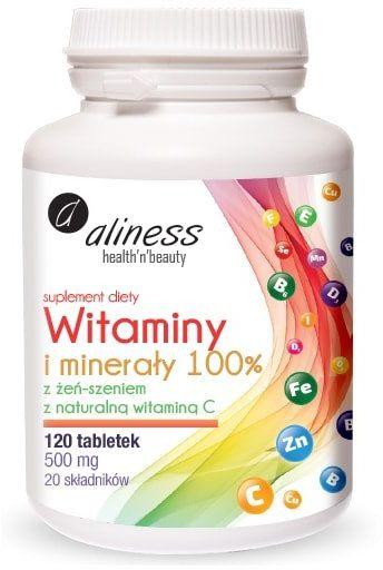 Witaminy i Minerały 20 składników (120 tab) Aliness