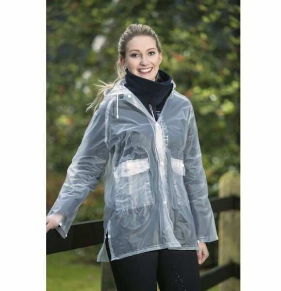 Płaszcz młodzieżowy przeciwdeszczowy, transparentny - HKM