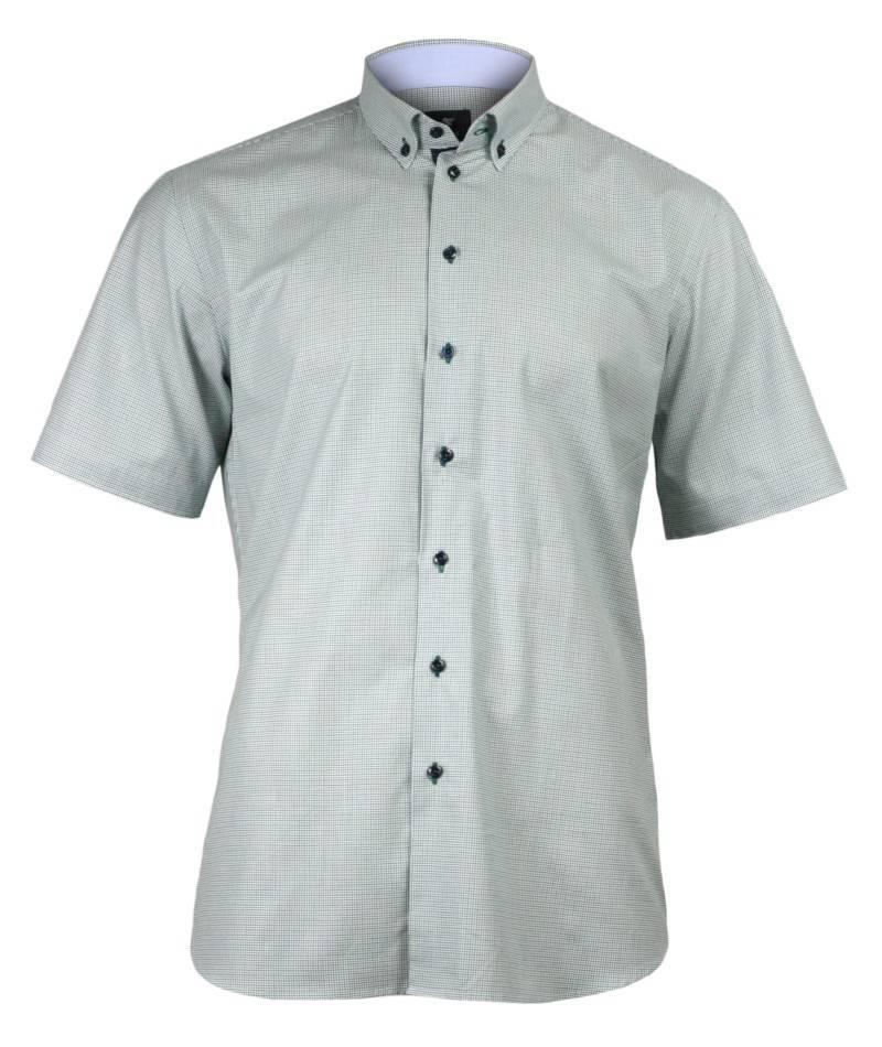 Koszula Męska z Krótkim Rękawem, Rey Jay, 1oo% BAWEŁNA, Kolorowa Krata KSKWRJ114339TOMC1