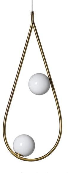 Droplet 2 Brass - nowoczesna lampa wisząca