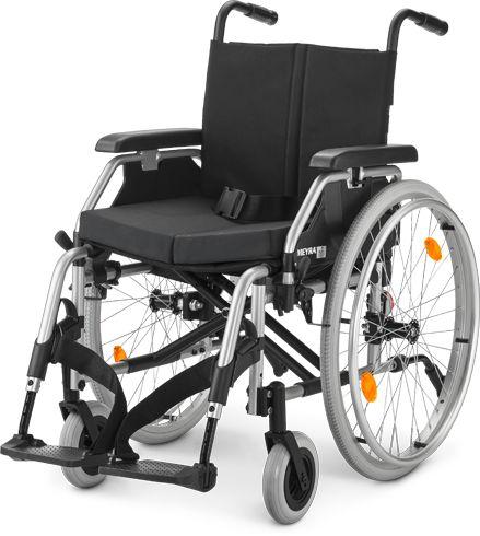 Wózek inwalidzki ze stopów lekkich + poduszka przeciw-odleżynowa + AKCESORIA Meyra (EUROCHAIR 2)