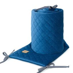 MAMO-TATO Ochraniacz do łóżeczka 60x120 oraz 70x140 Velvet PIK - Granatowy