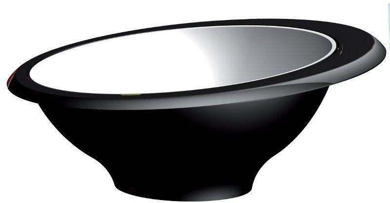 Casa bugatti - glamour - miseczka - czarna - czarny