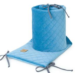 MAMO-TATO Ochraniacz do łóżeczka 60x120 oraz 70x140 Velvet PIK - Jeansowy