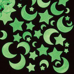 """Baker Ross Świecące w ciemności naklejki """"Księżyc i gwiazdy"""" (opakowanie 120 sztuk), idealne dla dzieci do dekoracji i personalizacji projektów rękodzielniczych, EF456"""