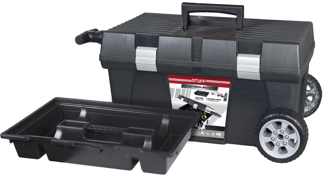 Skrzynka narzędziowa na kółkach Wheelbox STUFF Alu Basic 26 PATROL