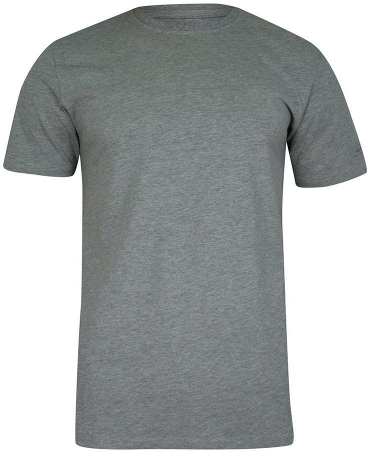 T-shirt Popielaty, 100% BAWEŁNA, U-neck, bez Nadruku, Męski, Krótki Rękaw -PAKO JEANS TSPJNSTSMpopielU