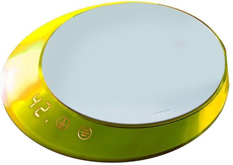 Casa bugatti - glamour - waga elektroniczna z timerem - żółta - żółty