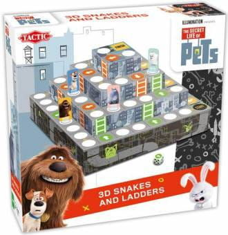 Secret Life of Pets 3D Game Snakes and Ladders Gra planoszwa