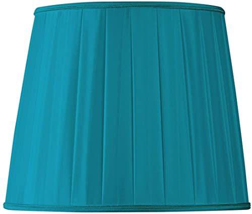 Plisowany klosz w kształcie amerykańskiej średnicy 50 x 35 x 40 cm (ręcznie gładki) turkusowy