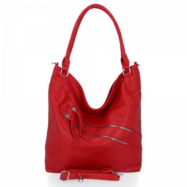 Uniwersalna torebka damska Herisson Czerwona