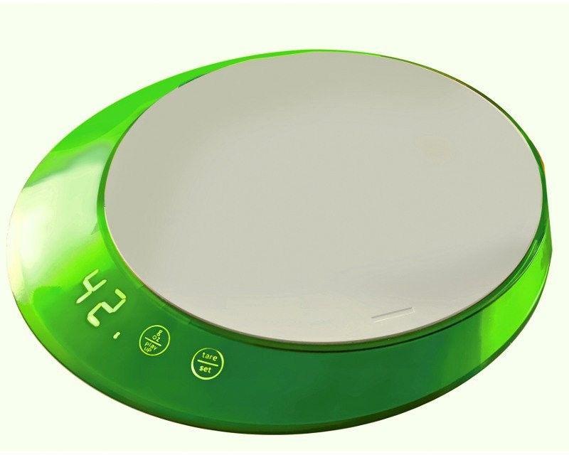 Casa bugatti - glamour - waga elektroniczna z timerem - zielona - zielony