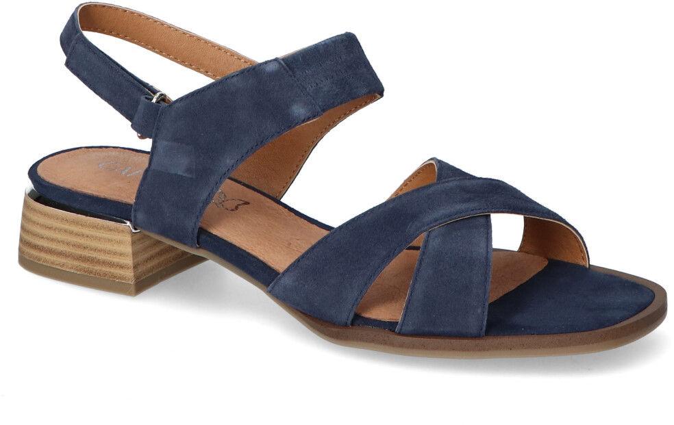 Sandały Caprice 9-28205-26 Granatowe zamsz