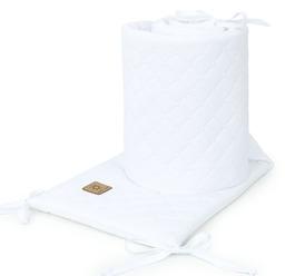 MAMO-TATO Ochraniacz do łóżeczka 60x120 oraz 70x140 Velvet PIK - Biały